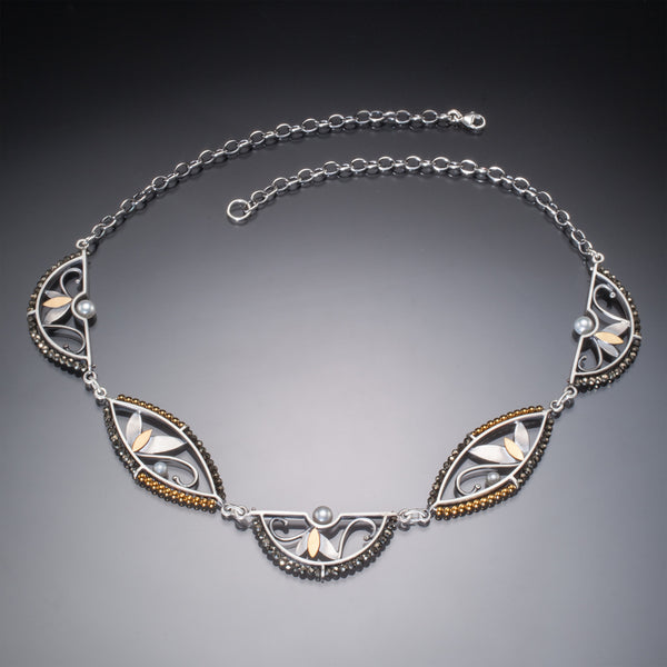Mixed Metal 5 Piece Necklace - Kinzig Design Studios