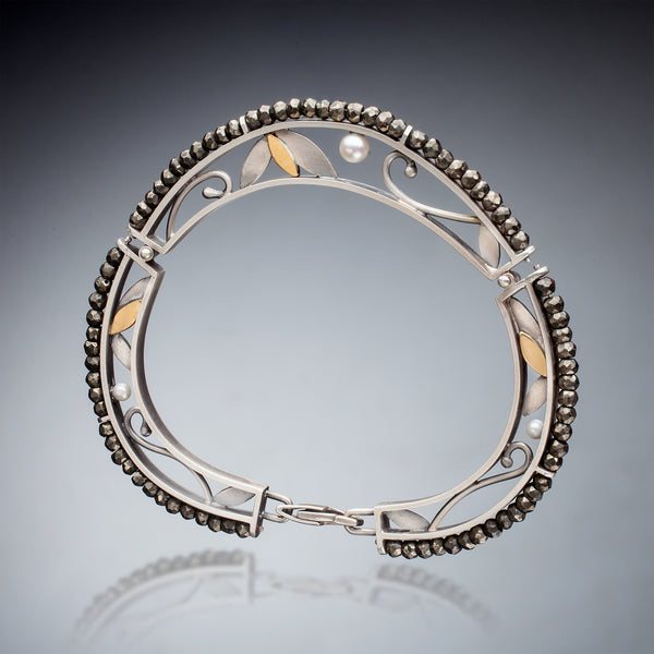 Mixed Metal and Pyrite Bracelet - Kinzig Design Studios