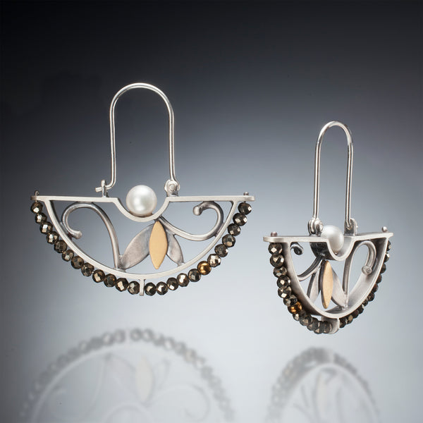 Mixed Metal Half Circle Earrings - Kinzig Design Studios