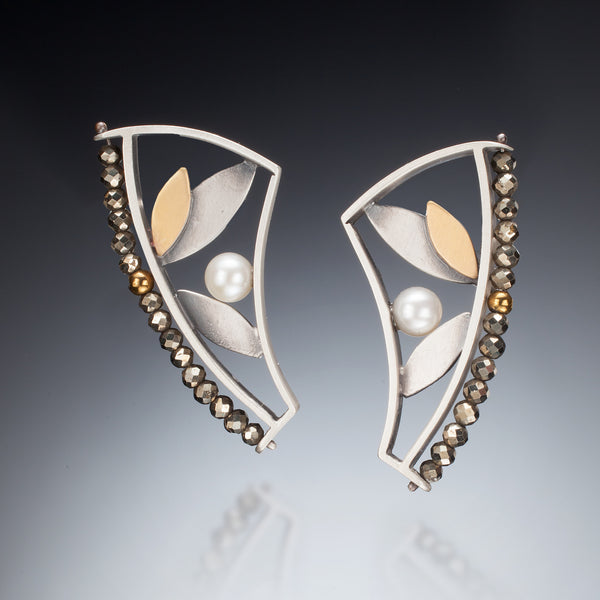 Mixed Metal Curve Earrings - Kinzig Design Studios