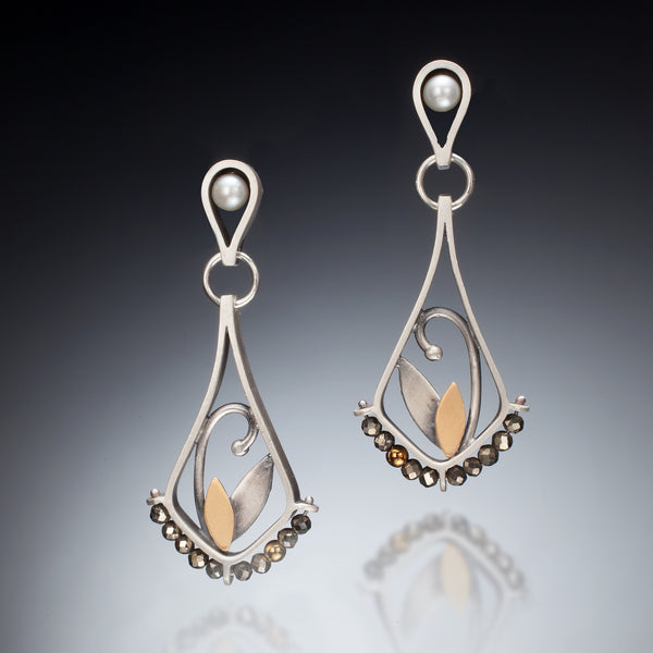 Mixed Metal Teardrop Earrings - Kinzig Design Studios