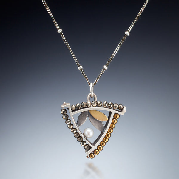 Mixed Metal Triangle Necklace - Kinzig Design Studios