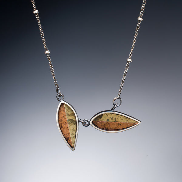 Mosaic Leaf Necklace - Kinzig Design Studios