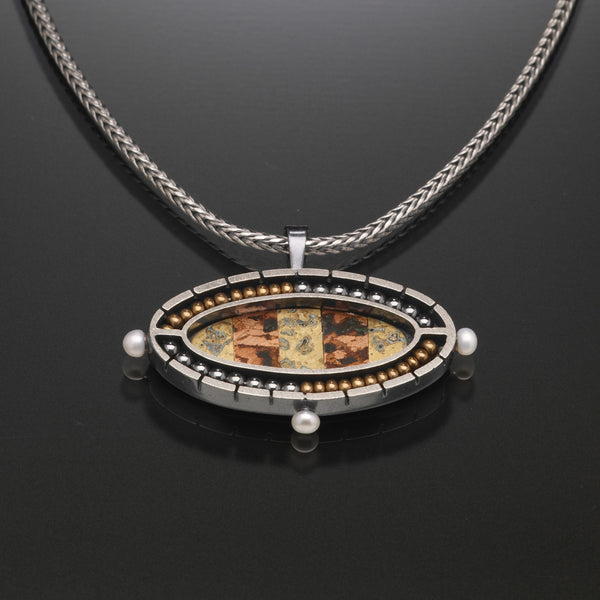 Mosaic Oval Necklace - Kinzig Design Studios