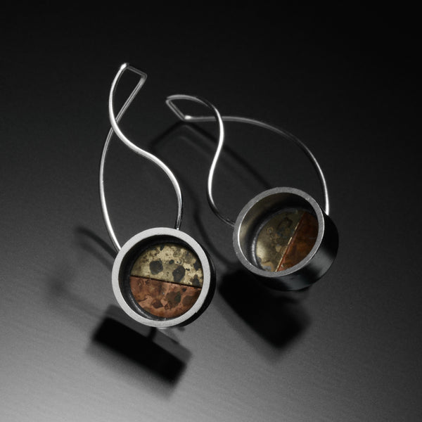 Mosaic S Earrings - Kinzig Design Studios