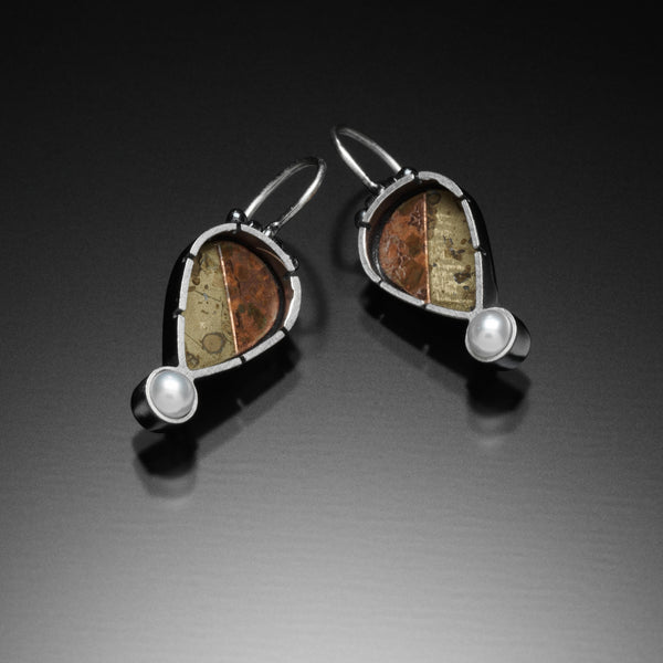 Mosaic Teardrop Earrings - Kinzig Design Studios