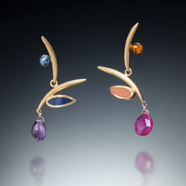 Twig Earrings (gv) - Kinzig Design Studios