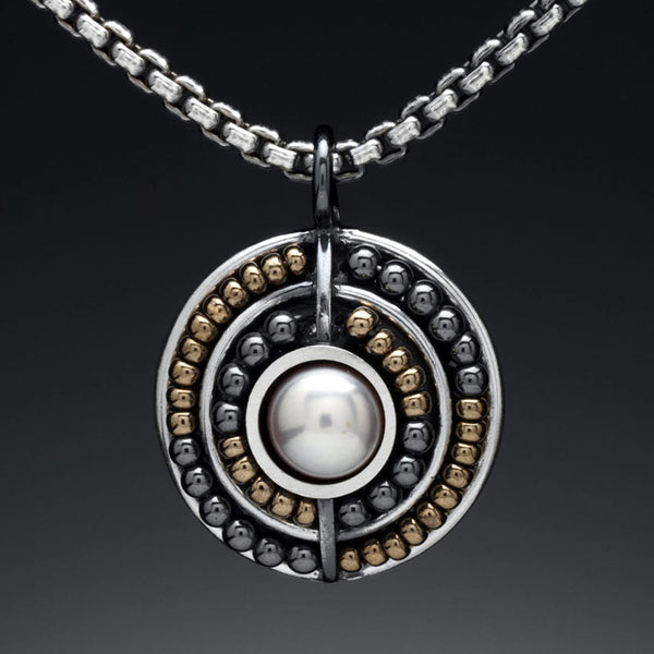 Beaded Circle Necklace - Kinzig Design Studios