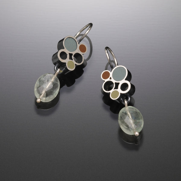 Bubble Drop Earrings (blue) - Kinzig Design Studios