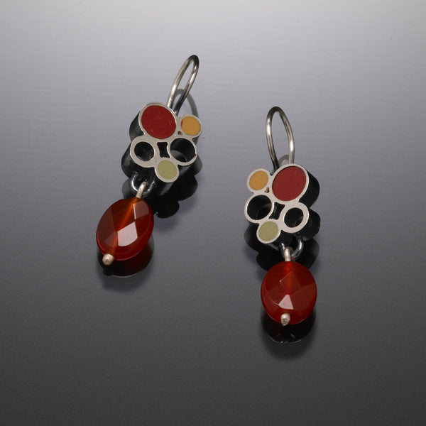 Bubble Drop Earrings (red) - Kinzig Design Studios