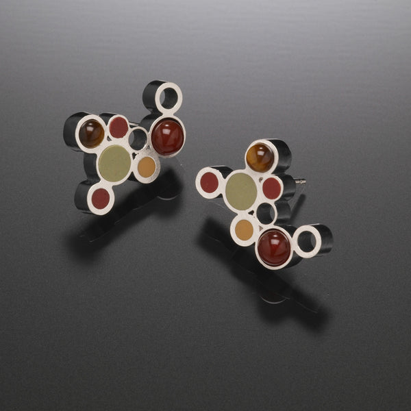 Bubble Earrings (red) - Kinzig Design Studios