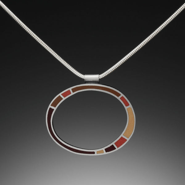 Circle Necklace (red) - Kinzig Design Studios