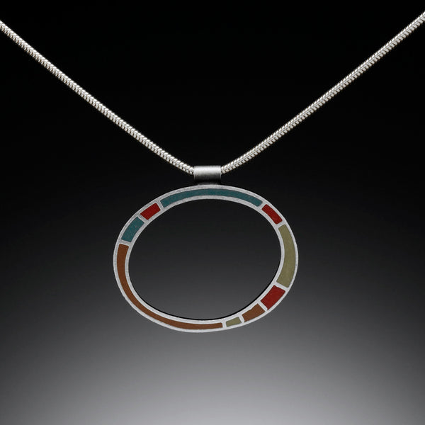 Circle Necklace (blue) - Kinzig Design Studios