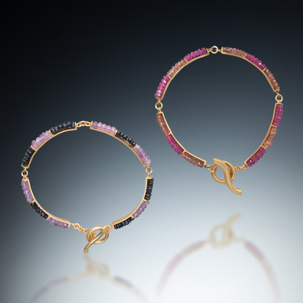 Gemstone Stripe Bracelet (gold) - Kinzig Design Studios