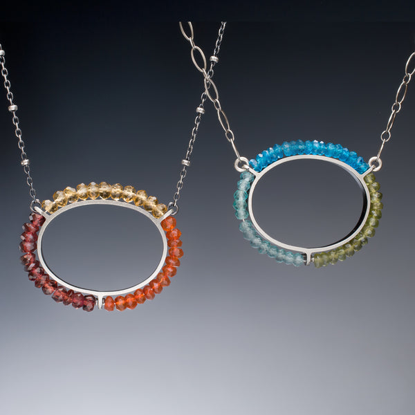 Gemstone Circle Necklace - Kinzig Design Studios