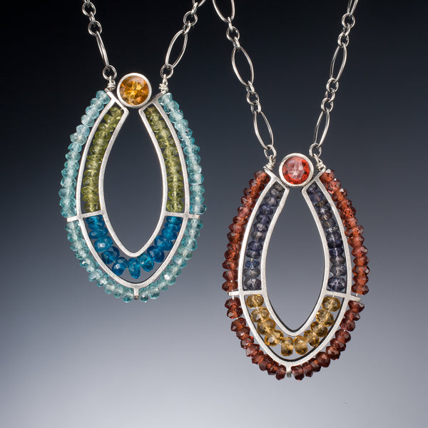 Gemstone Loop Necklace - Kinzig Design Studios