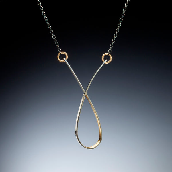 Gold Inside Loop Necklace - Kinzig Design Studios