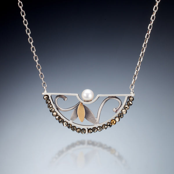 Mixed Metal Half Circle Necklace - Kinzig Design Studios