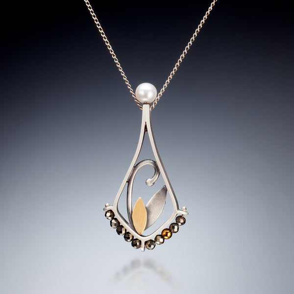 Mixed Metal Teardrop Necklace - Kinzig Design Studios