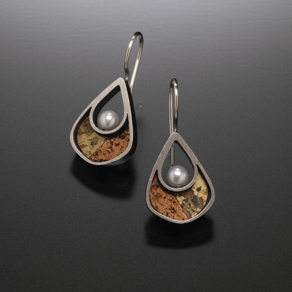 Mosaic Drop Earrings - Kinzig Design Studios