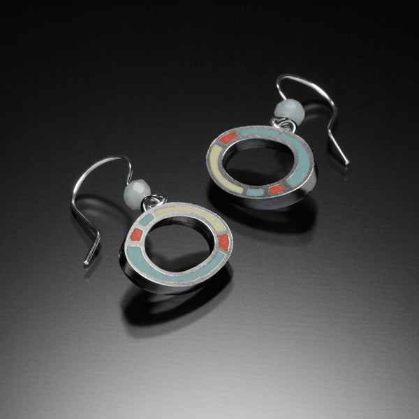Oval Earrings (blue) - Kinzig Design Studios
