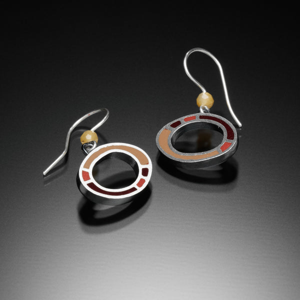 Oval Earrings (red) - Kinzig Design Studios