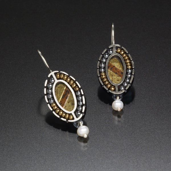 Mosaic Oval Earrings Earrings - Kinzig Design Studios