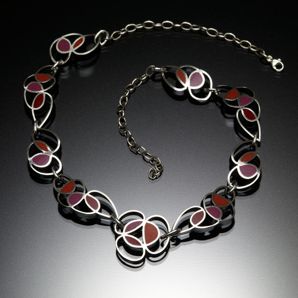 Scribble Necklace (red) - Kinzig Design Studios