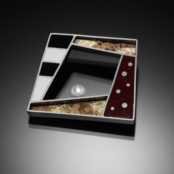 Square Brooch - Kinzig Design Studios