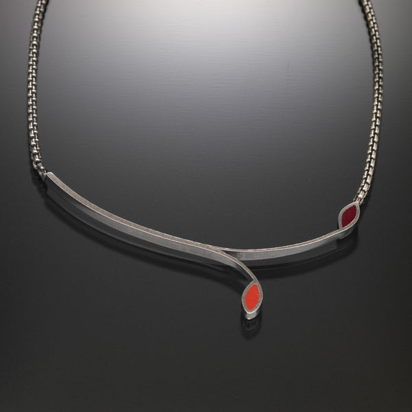 Stem Necklace (red) - Kinzig Design Studios