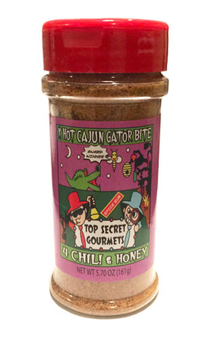XHot Cajun Gator Bite 4 Chili and Honey • 5.7oz Bottle