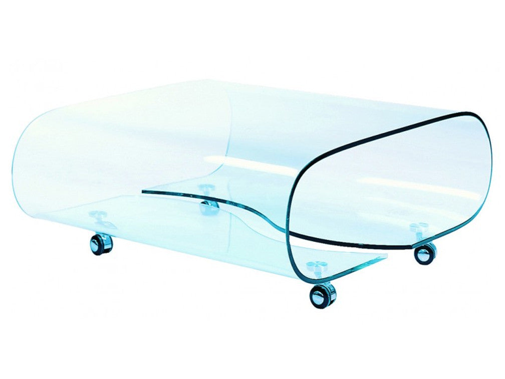 Mesa de Centro con Rodajas Jet Set Glass River