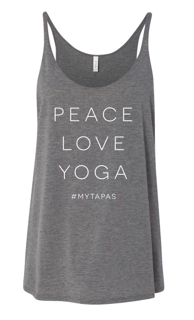 Peace/Love/Yoga Tank - MyTapas