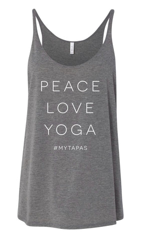 Peace/Love/Yoga Flow Tank