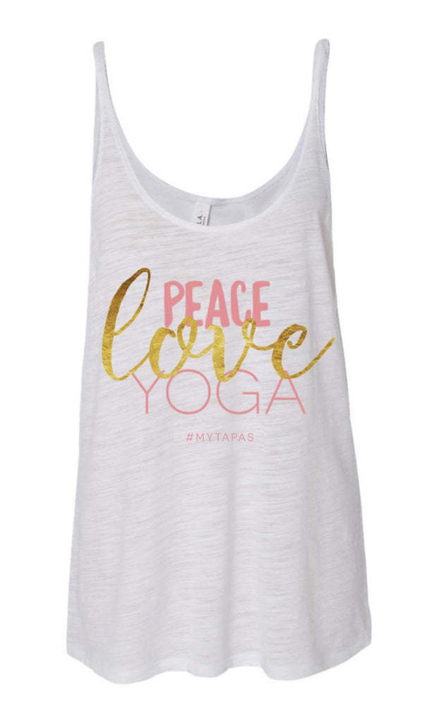 Peace/Love/Yoga Flow Tank - MyTapas