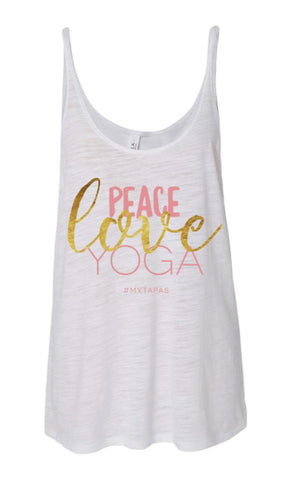 Peace/Love/Yoga Tank