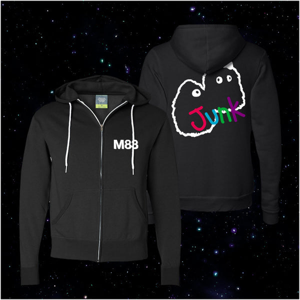 M83 BLACK FLUMP OUTLINE ZIP HOODIE