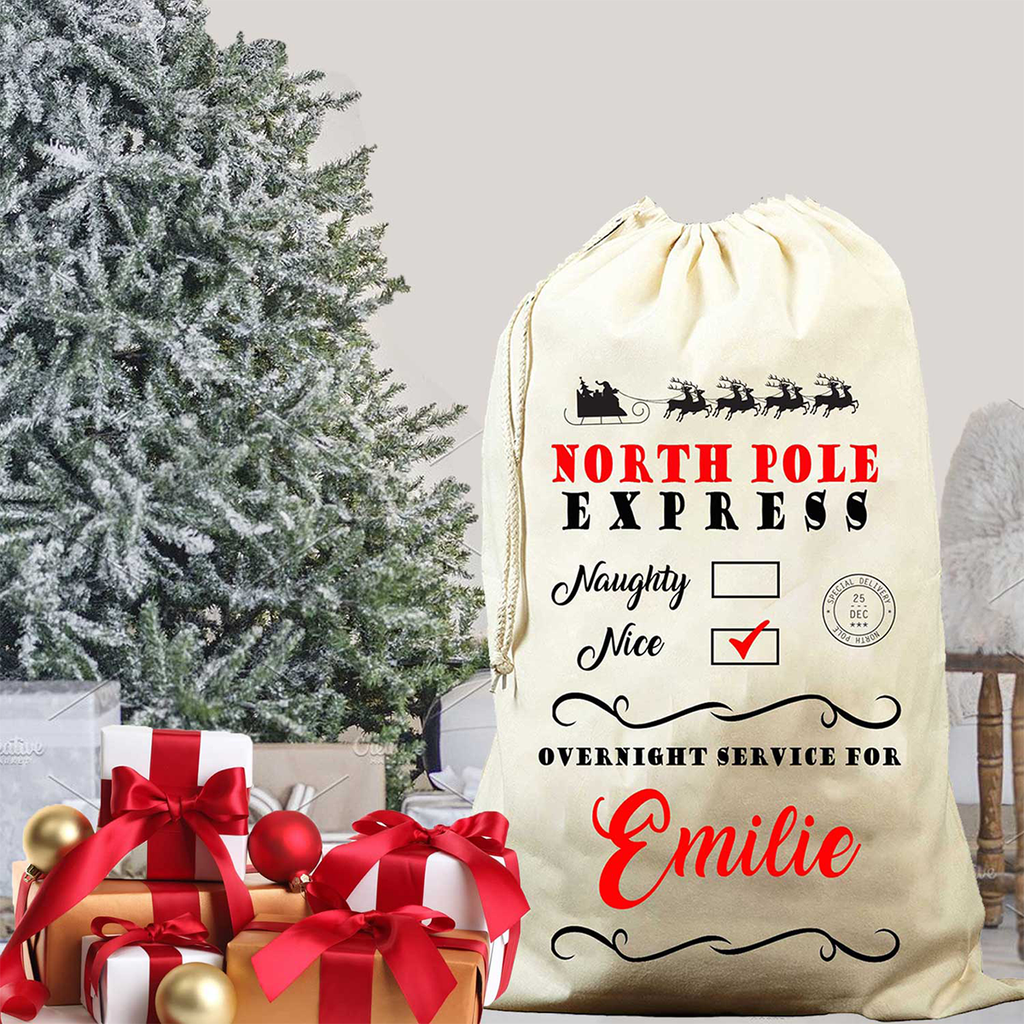 North Pole Express Santa Sack – My Santa Sack