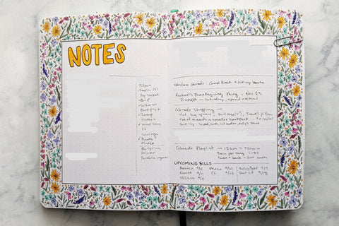 Monthly Notes Page