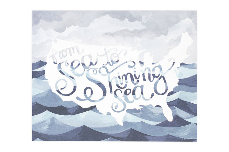 Sea to Shining Sea Art Print