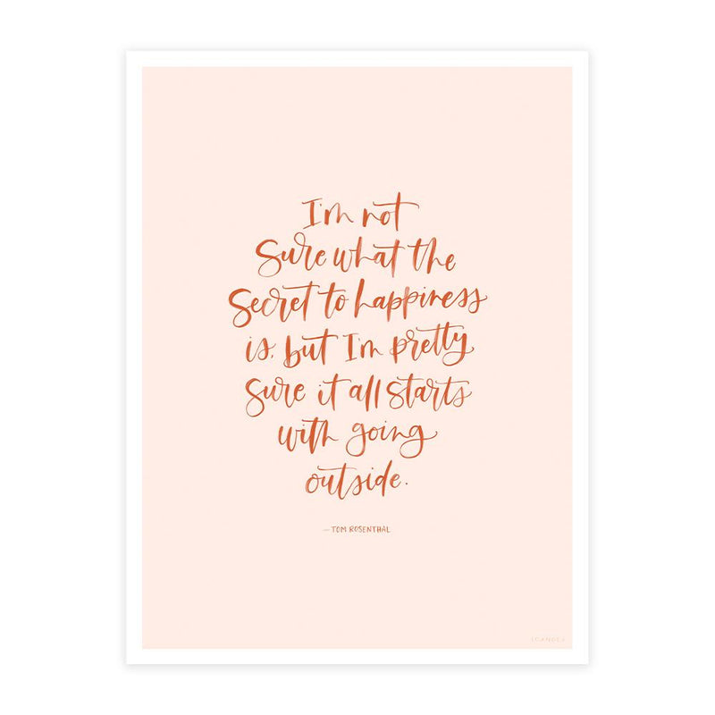 Happiness Quote Poster Print
