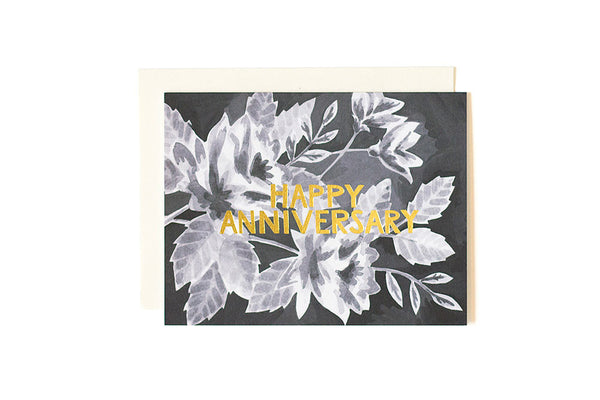 Anniversary Black Floral