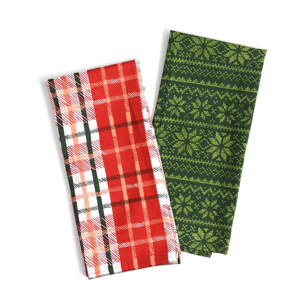 Holiday Towels Plaid