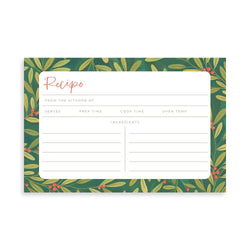 Holly Border Recipe Cards