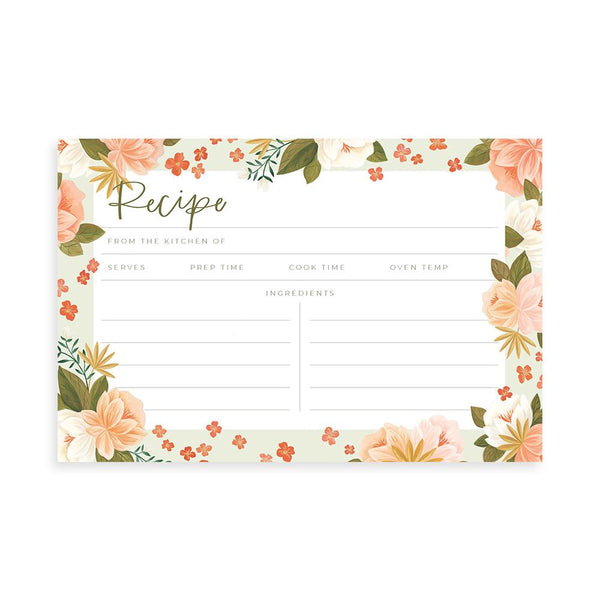 Palm Spring Recipe Cards