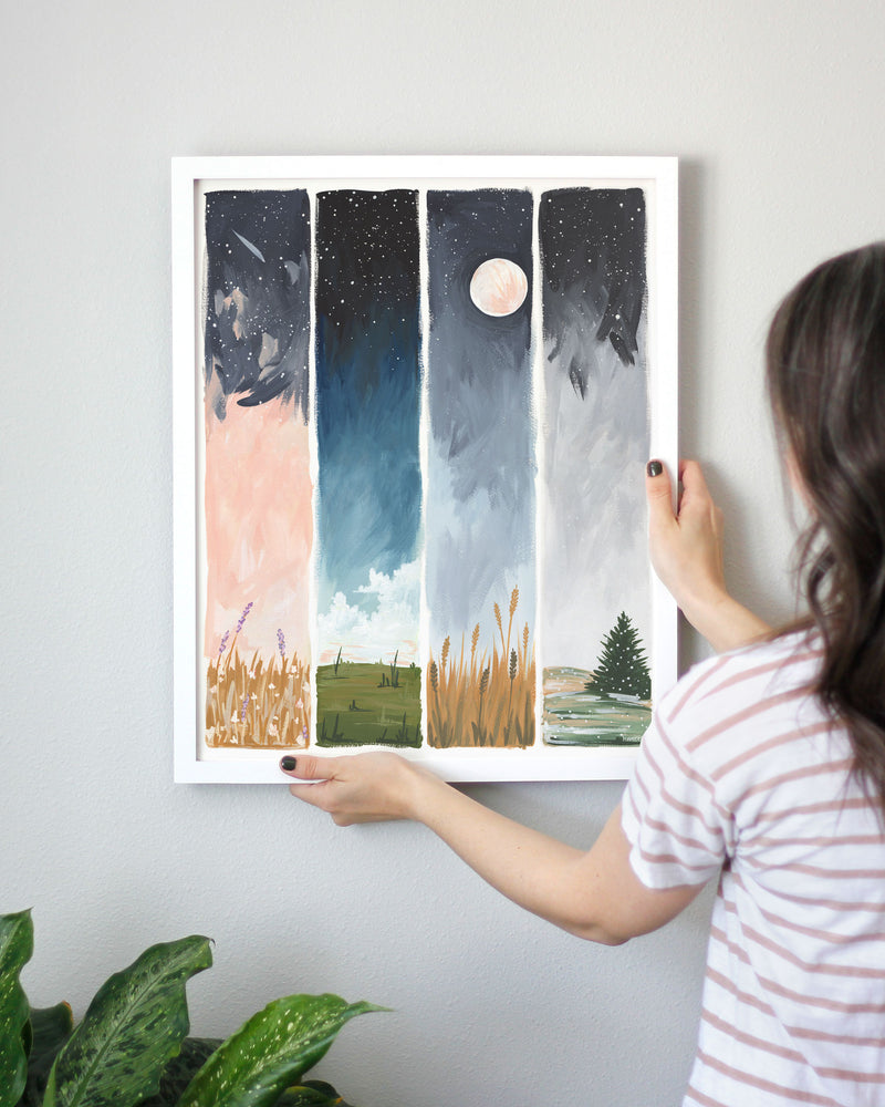 Starry Seasons Art Print