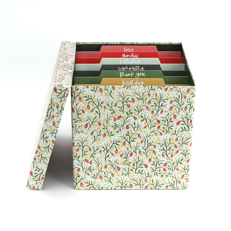 Strawberry Meadow Card Container