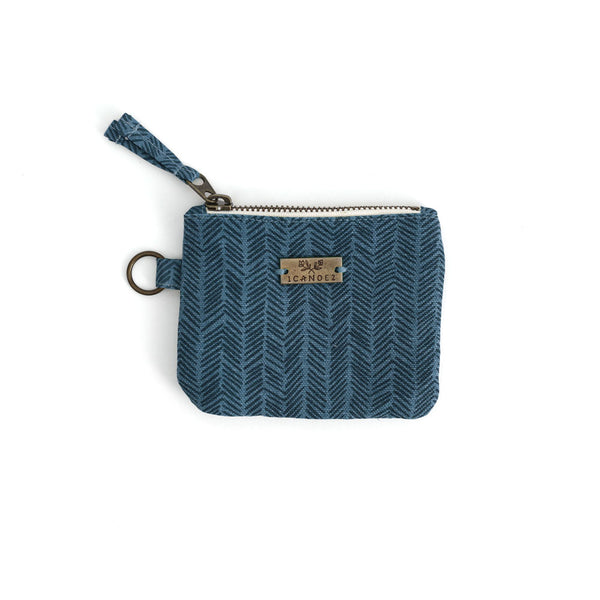 Navy Herringbone ID Wallet