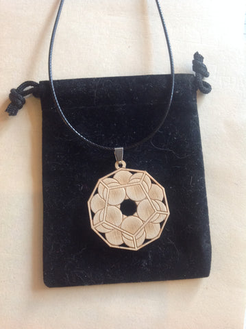 dodecahedron necklace