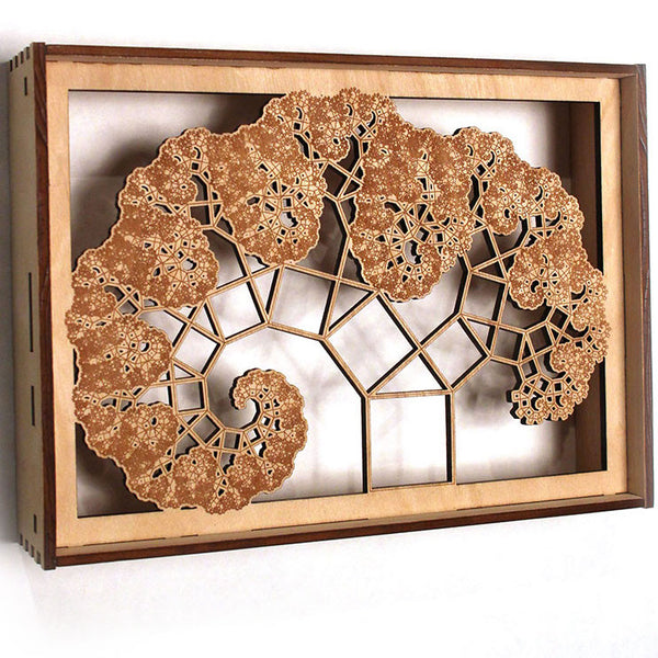 Pythagoras Tree Lasercut Shadowbox (gallery)